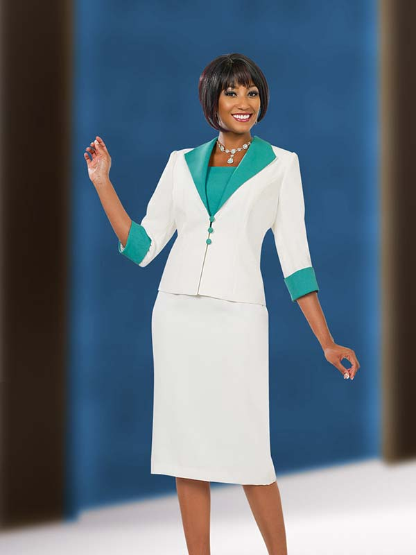 Ben Marc Executive 11544 Womens Dress & Jacket Set With Wing Lapels