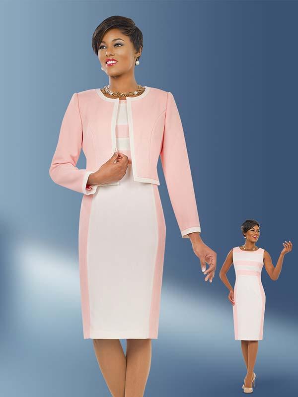 Ben Marc Executive 11556 Two Tone Jewel Neckline Dress & Jacket Set
