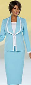 Ben Marc Executive 11754 Womens Business Skirt Suit With Contrasting Trims