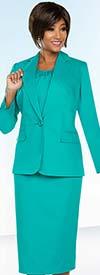 Ben Marc Executive 11759 Womens Basic Business Skirt Suit With Notch Lapels