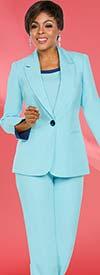 Ben Marc Executive 11767 Womens Basic Pant Suit With Notch Lapel Jacket