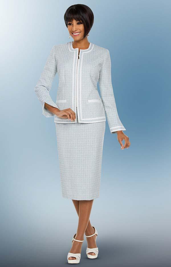 Ben Marc Executive 11793 Grid Pattern Design Business Skirt Suit Suit