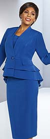 Ben Marc Executive 11802 Skirt Suit With Layered Bell Sleeves And Peplum Jacket