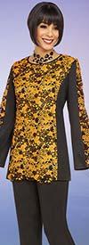 Ben Marc Casual Elegance 18349 Womens Pant Suit With Floral Print Design