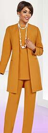 Ben Marc Casual Elegance 18385 Womens Pant Suit With Long Jacket Design