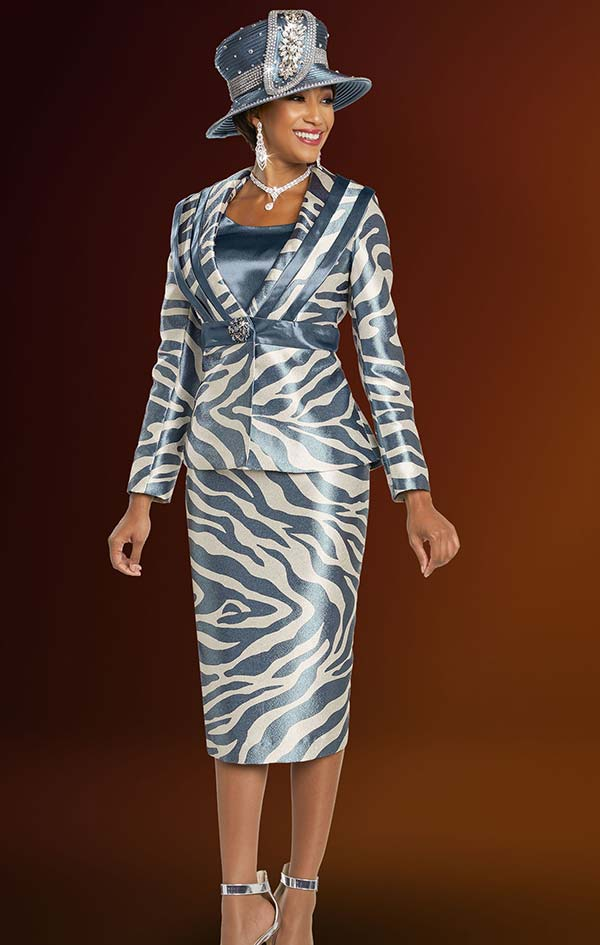 Ben Marc 48260 Ladies Skirt Suit With Animal Print Design