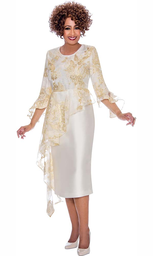 DCC - DCC2331 Half Duster Peplum Design Floral Bodice Dress