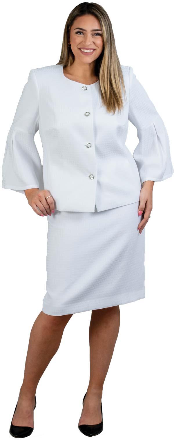 John-Meyer-865322 Womens Two Piece Bell Sleeve Jacket & Skirt Suit