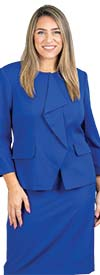 John-Meyer-875C125 Womens Two Piece Concealed Zipper Jacket & Skirt Suit
