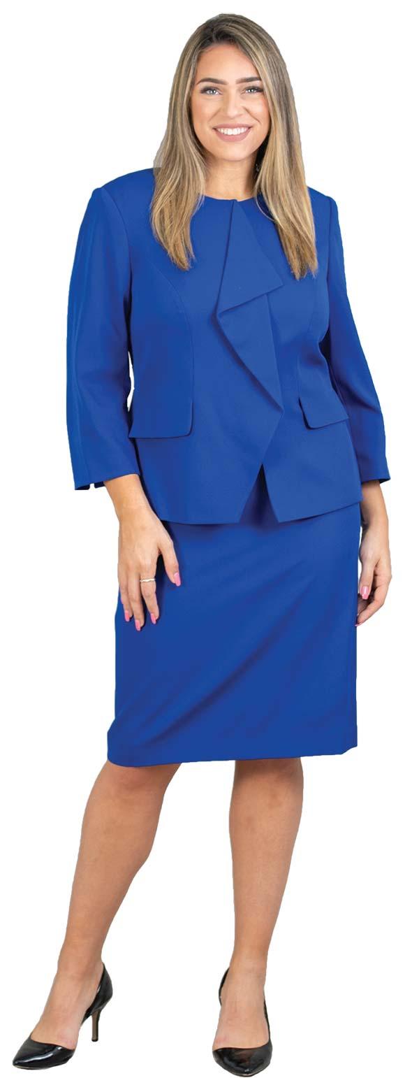 John-Meyer-875C125 Womens Two Piece Concealed Zipper Jacket & Skirt Suit