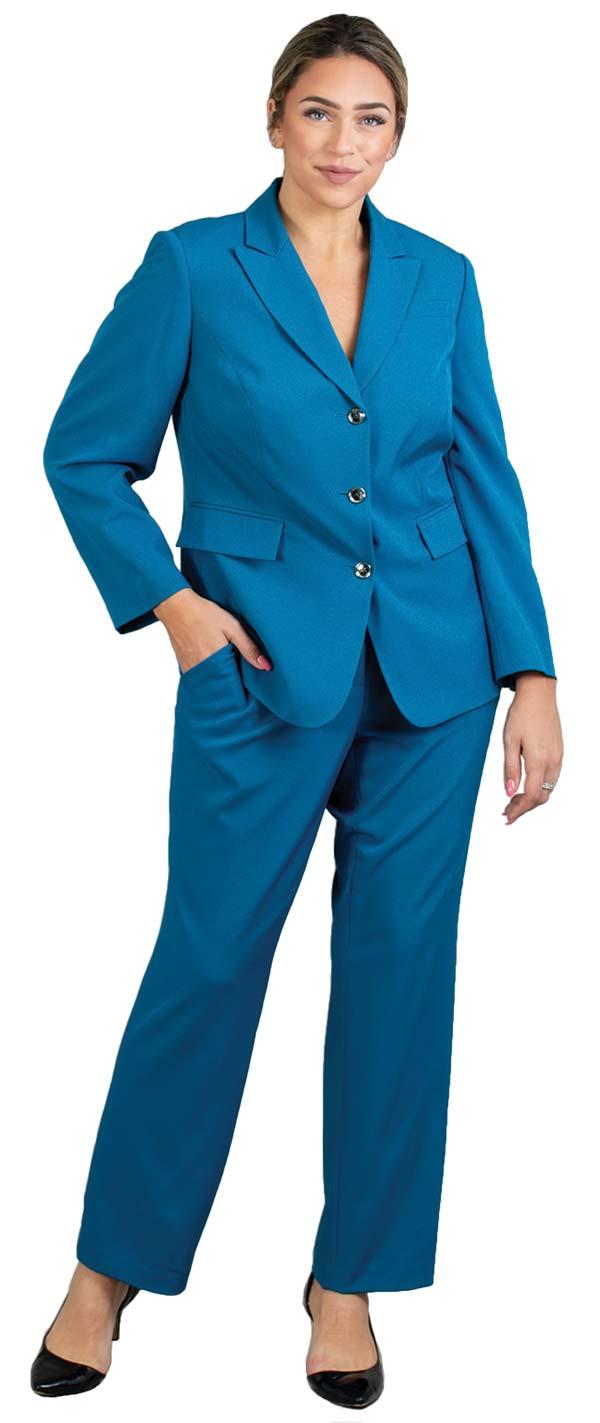 John-Meyer-875C138 Womens Peak Lapel Jacket And Pant Suit