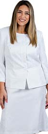 John-Meyer-879H296 Womens Two Piece Concealed Button Jacket & Skirt Suit
