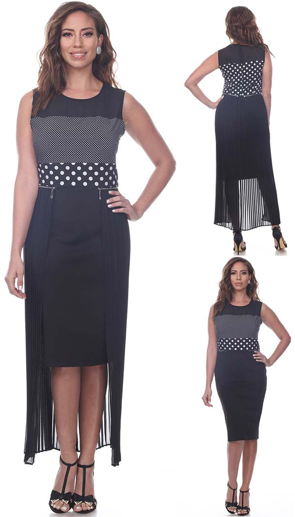 Love The Queen 17251 Womens Dress With Detachable Extension Design