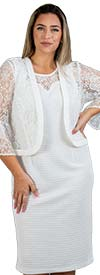 Maya-Brooke-27585 Two Piece Lace Bell Sleeve Jacket & Dress