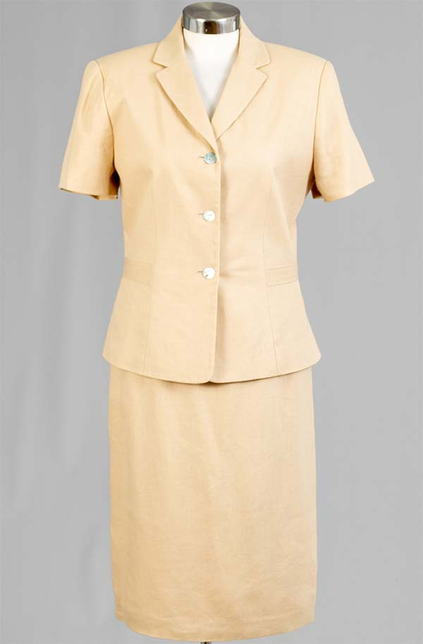 Rafael-90352 Womens Two Piece Skirt Suit With Notch Lapel Jacket
