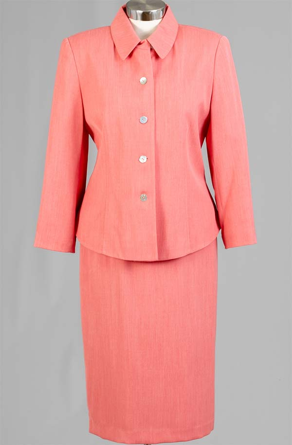 Rafael-90361 Womens Two Piece Skirt Suit With Shirt Collar Jacket