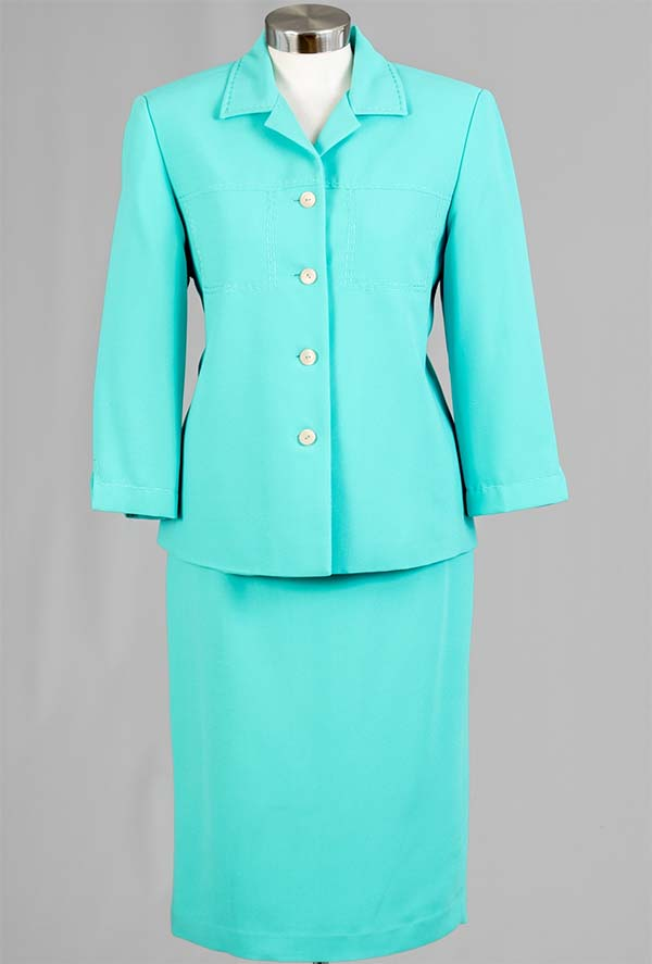 Rafael-90621 Womens Two Piece Skirt Suit With Notch Lapel Jacket