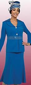 Fifth Sunday 52850 - Rhinestone Embellished Womens Suit With Flared Skirt