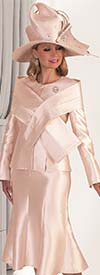 Tally Taylor 4636 - Two Piece Dress Suit With Cross Layered Wrap Detail