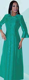 Tally Taylor 4576-Turquoise -  One Piece Long Dress With Detachable Bow