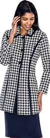 D.Vine DV1032 Womens Houndstooth Print Suit