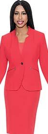 D.Vine DV1109 - Ladies Skirt Suit With Star Collar