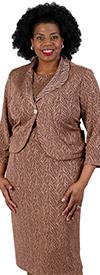 Lorena Adams 8016 - Two Piece Womens Jacket Dress Set With Shawl Lapels