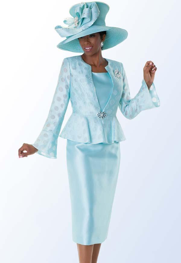 Tally Taylor 4562 Three Piece Skirt Suit With Peplum Jacket