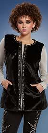 Tesoro Moda 19937 Womens Faux Fur Vest With Pockets
