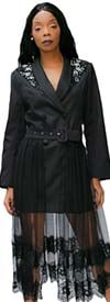 N By Nancy T8828 - Womens Two Piece Belted Jacket And Tulle Skirt Set