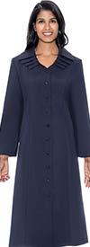 GMI G11721-Navy - Multi Layer Collar One Piece Church Dress
