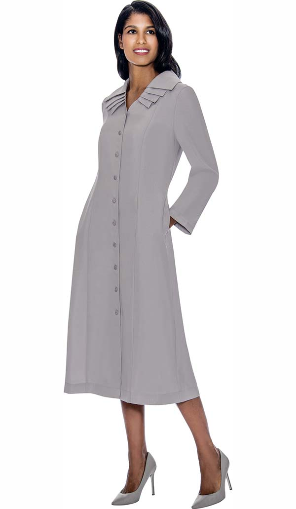 GMI G11721-Silver - Multi Layer Collar One Piece Church Dress