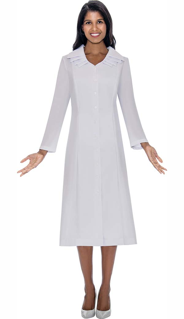 GMI G11721-White - Multi Layer Collar One Piece Church Dress