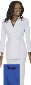 Clearance Aussie Austine 11804-Royal - Size 6 - Double Breasted Womens Usher Suits
