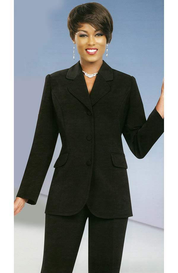 Ben Marc Executive 10495-Black - Womens Uniform Pant Suit