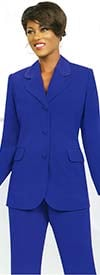 Ben Marc Executive 10495-Royal - Womens Uniform Pant Suit