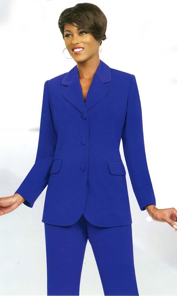 Ben Marc Executive 10495-Royal - Womens Uniform Pant Suit
