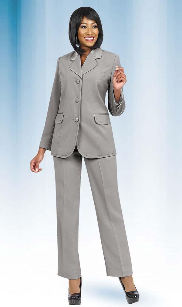 Ben Marc Executive 10495-Silver - Womens Uniform Pant Suit