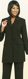Ben Marc Executive 10496-Black - Womens Pant Suit Business Uniform
