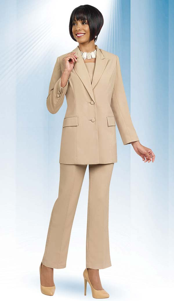 Ben Marc Executive 10499-Khaki - Business Trouser Suit Uniform For Women