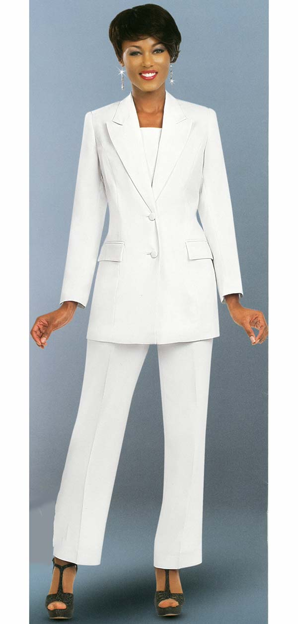 Ben Marc Executive 10499-White - Business Trouser Suit Uniform For Women