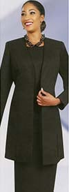 Ben Marc 2296-Black- Basic Suit With Vented Jacket