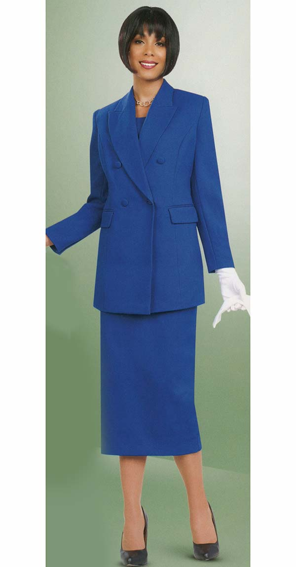 Ben Marc 2298-Royal - Womens Double Breasted Suit