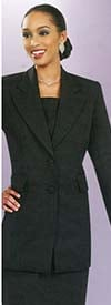 Ben Marc 2299-Black - Usher Suit For Church With Peak Lapels