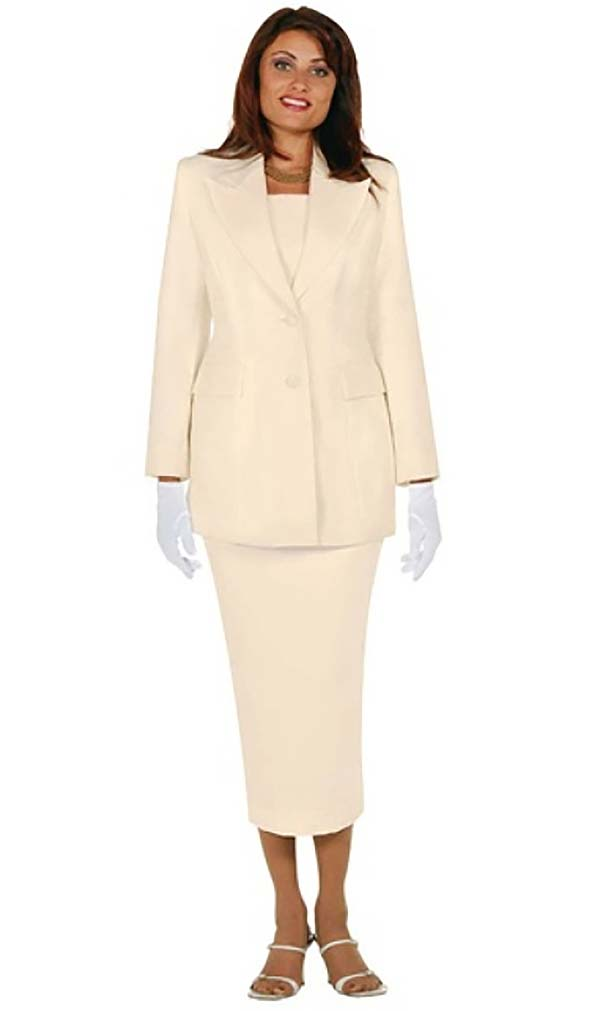 Ben Marc 2299-Ivory - Peak Lapels Women's Suit