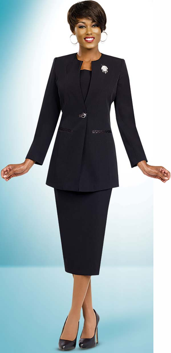 Ben Marc 78099-Black - Modern Usher Suit For Women