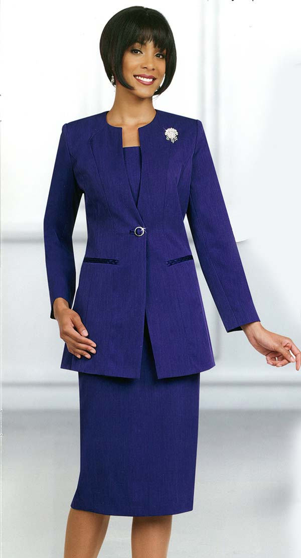 Ben Marc 78099-Purple - Modern Usher Suit For Women