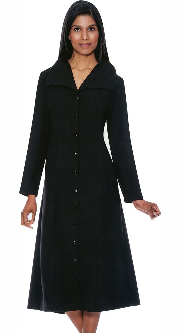 GMI G11573-Black - Wide Collar One Piece Dress For Church
