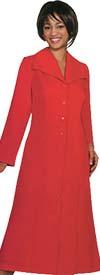 GMI G11573-Red - Wide Collar One Piece Church Dress