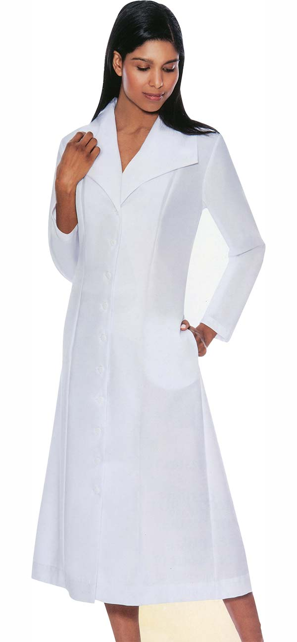 GMI G11573-White - Wide Collar One Piece Church Dress